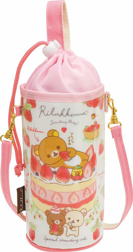 San-x Plastic Bottle Case 500-650ml Rilakkuma TJO