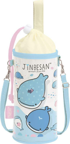 San-x Plastic Bottle Case 500-650ml Jinbesan (Whale Shark) TJO