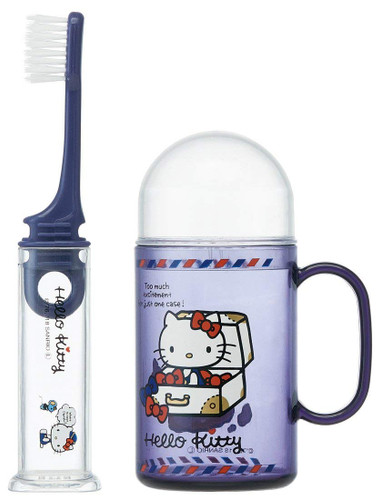 Skater Sanrio Toothbrush Set Hello Kitty TJO
