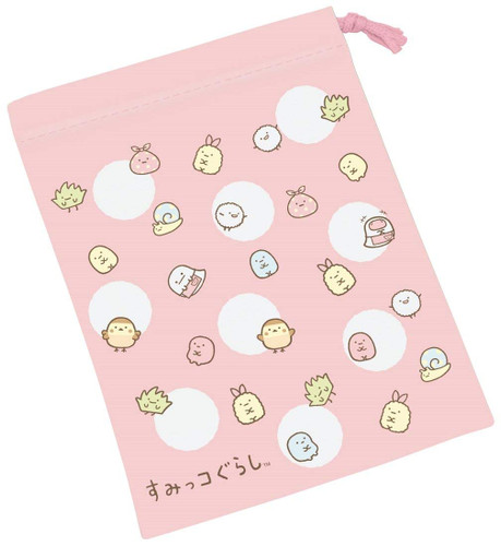 Skater Sumikko Gurashi Drawstring Bag for Cups TJO