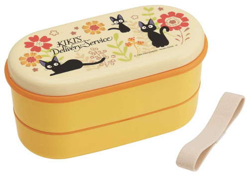 Skater Kiki's Delivery Service Flower Two-tier Lunch Box 630ml Oval Type TJO