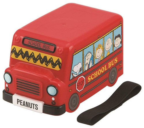 Skater Snoopy Peanuts 3D School bus Lunch Box Food Container Set TJO