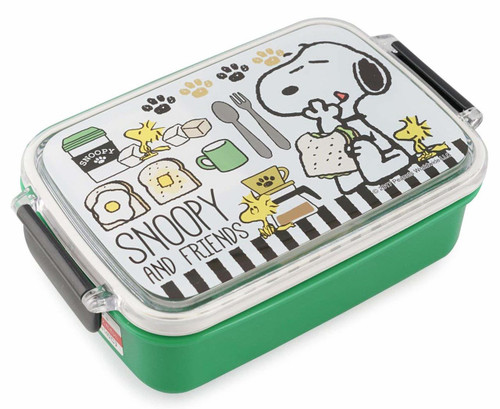 Skater Lunch Box Snoopy Caf? Green 450ml TJO