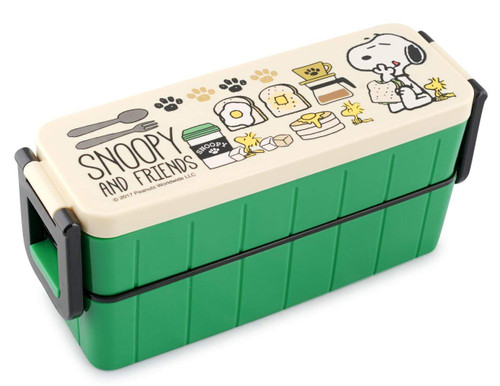 Skater Lunch Box Snoopy Caf? Green 630ml TJO