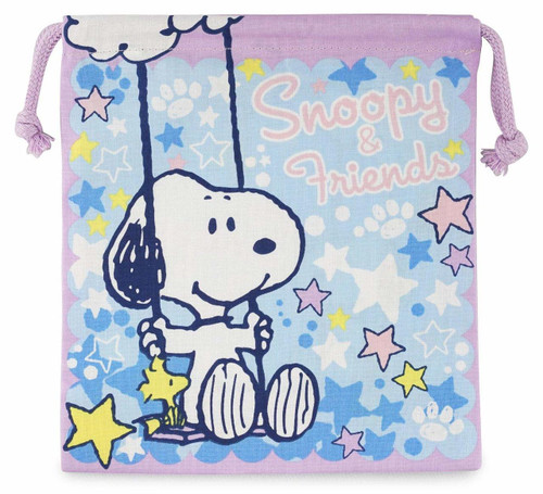 Skater Drawstring Bag Peanuts Snoopy Star TJO