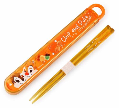 Skater Chopsticks & Case Set Disney Chip & Dale  TJO