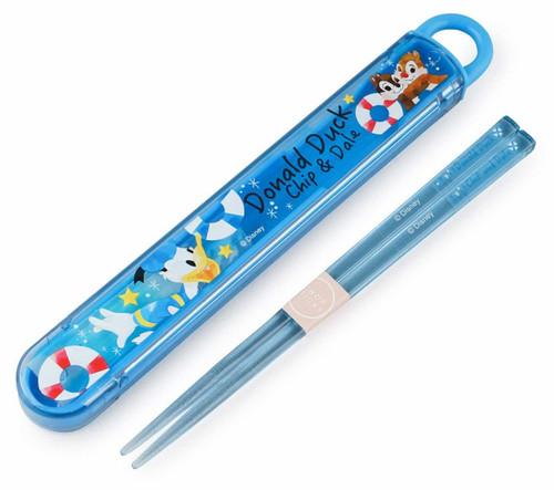 Skater Chopsticks & Case Set Disney Donald & Chip & Dale  TJO