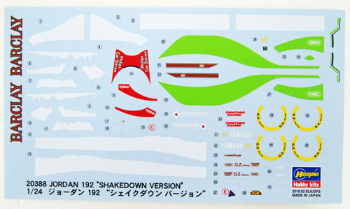 Hasegawa 20388 Jordan 192 Shakedown Version 1/24 Scale kit