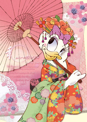 Tenyo Japan Jigsaw Puzzle D108-003 Japanese Modern Daisy Duck (108 Pieces)