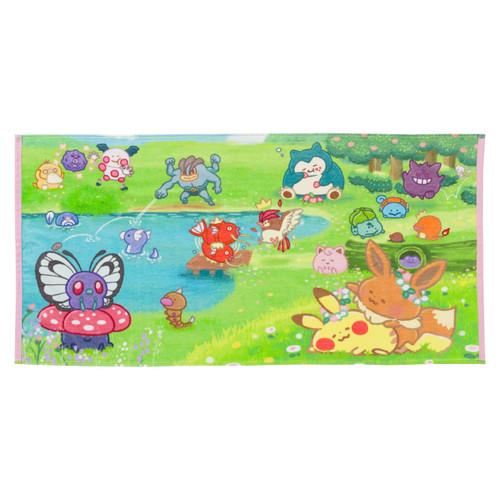 Pokemon Center Original Mini Bath Towel Yurutto Sotobiyori 1215
