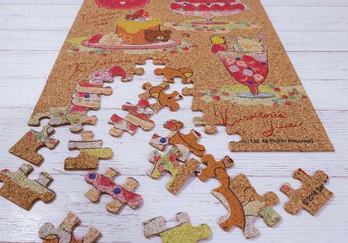 Beverly Jigsaw Puzzle 108-826 Cork Jigsaw Puzzle Rilakkuma Strawberry Party (108 Pieces)