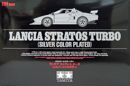 Tamiya 25418 Lancia Stratos Turbo (Silver Color Plated) 1/24 Scale Kit