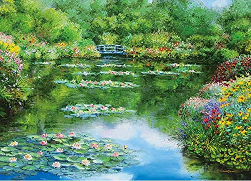 APPLEONE Jigsaw 500-257 Sam Park Monet's Garden (500 Pieces)