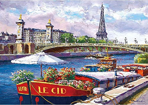 APPLEONE Jigsaw 500-258 Sam Park Along the Seine (500 Pieces)