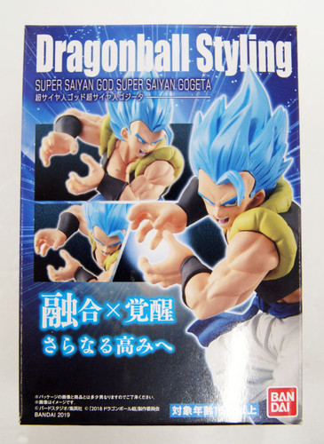 Bandai Candy 339779 Dragon Ball Styling God Super Saiyan Gogeta 1 Set
