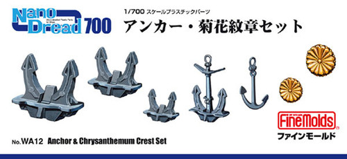 Fine Molds WA12 Anchor & Chrysanthemum Crest Set 1/700 Scale Micro-detailed Parts