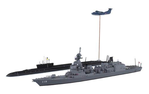 Aoshima Waterline 55656 JMSDF Defense Destroyer DD-119 Asahi SP 1/700 Scale kit