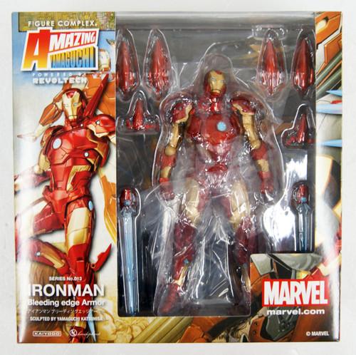 Kaiyodo Amazing Yamaguchi 013 Iron Man Bleeding Edge Armor Figure
