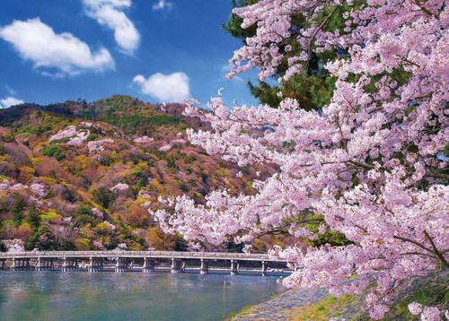 Epoch Jigsaw Puzzle 05-116 Togetsu-kyo Bridge, Cherry Blossom, Kyoto (500 Pieces)