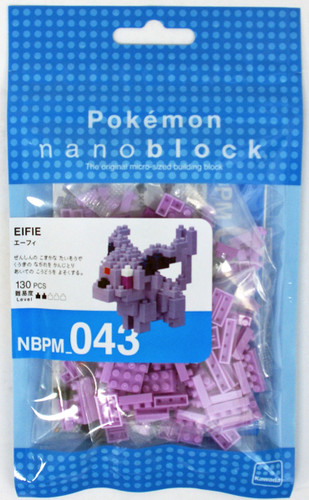 Kawada NBPM-043 nanoblock Pokemon Espeon (Eifie)
