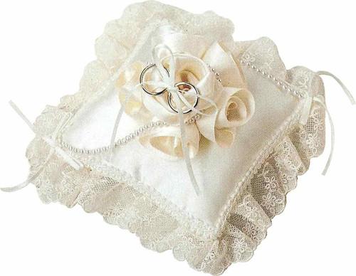 Hamanaka H431-125 Wedding Kit Wedding Rose Ring Pillow Square