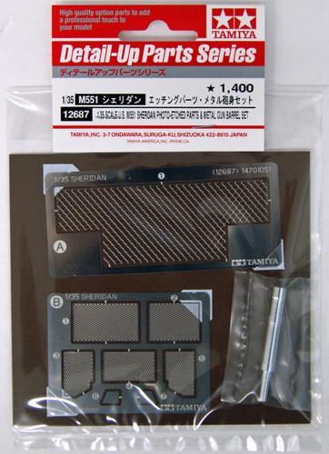 Tamiya 12687 U.S. M551 Sheridan Photo-Etched Parts & Metal Gun Barrel Set 1/35