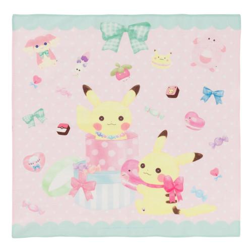 Pokemon Center Original Handkerchief fluffy little pokemon (Twin Pikachu) 119