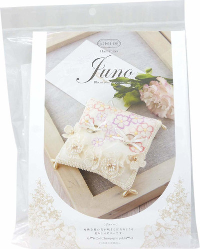 Hamanaka H431-158 Wedding Kit Juno Ring Pillow Flower Garden