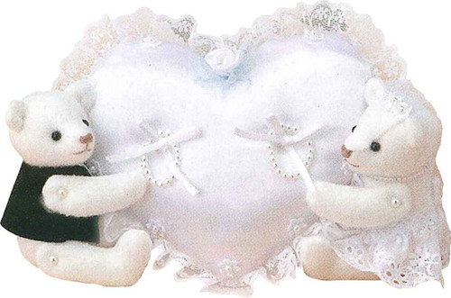 Hamanaka H431-084 Wedding Kit Ring Pillow Wedding Bears