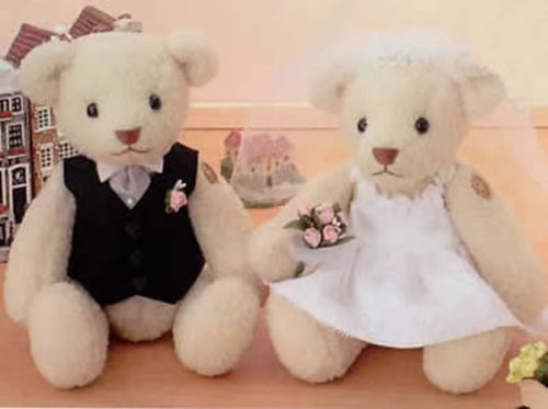 Hamanaka H431-107 Wedding Kit Wedding Bear Acrylic Short Sheep Happy Wedding kit