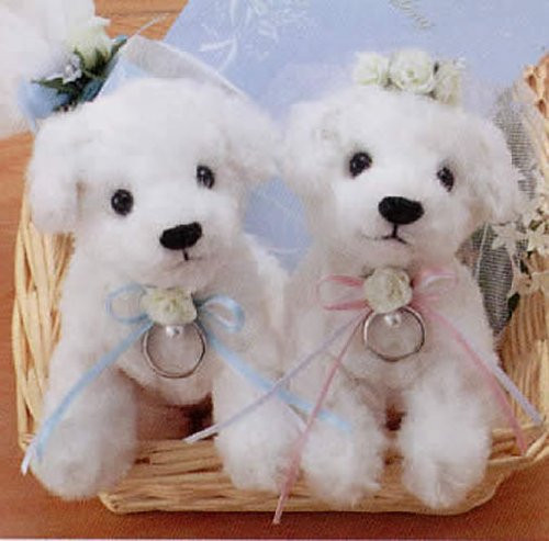 Hamanaka H431-092 Wedding Kit Wedding Bear Rayon Distress Wedding Dog kit