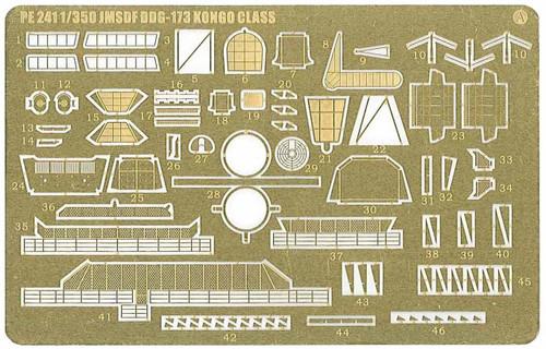 Pit-Road Skywave PE241 Photo-etched Parts for JMSDF Aegis Escort Vessel DDG-173 Kongo 1/700 Scale