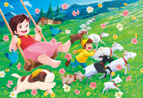 Beverly Jigsaw Puzzle 93-143 Heidi, Girl of the Alps Heidi's Swing (300 Pieces)
