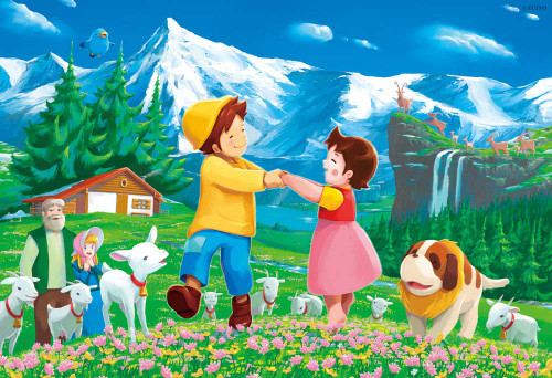 Beverly Jigsaw Puzzle 93-144 Heidi, Girl of the Alps Let's Dance Together (300 Pieces)