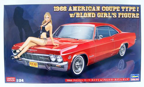 Hasegawa SP402 1966 American Coupe Type I w/ Blonde Girl Figure 1/24 Scale kit