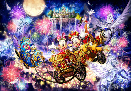Tenyo Japan Jigsaw Puzzle D-1000-038 Disney Starlight Kingdom (1000 Pieces)