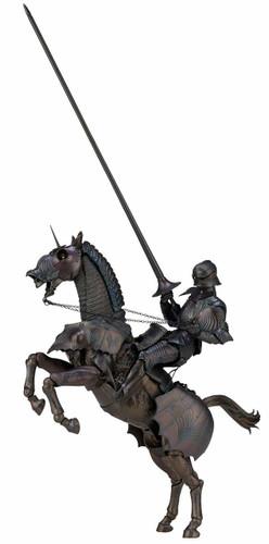 Kaiyodo KT-026 Takeyashiki Jizaikokimono 15th Century Gothic Equestrian Armor (Bronze) Figure