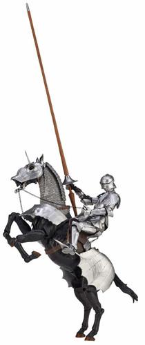 Kaiyodo KT-027 Takeyashiki Jizaikokimono 15th Century Gothic Equestrian Armor (Silver) Figure