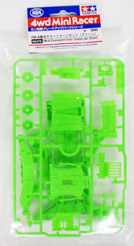 Tamiya Mini 4WD 95476 FM-A Fluorescent-Color Chassis Set (Green)