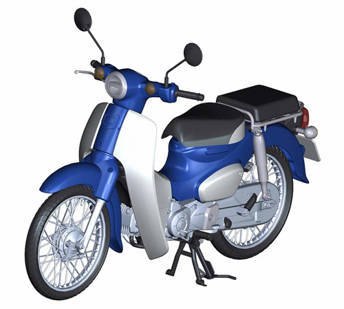 Fujimi 12NX-1 Honda Super Cub 10 (Urbane Denim Blue Metallic) 1/12 Scale Pre-Painted Kit