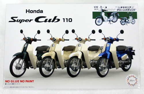 Fujimi 12NX-2 Honda Super Cub 110 (Tasmania Green Metallic) 1/12 Scale Pre-Painted Kit