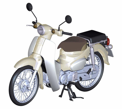 Fujimi 12NX-1EX-1 Honda Super Cub 110 (Virgin Beige) 1/12 Scale Pre-Painted Kit