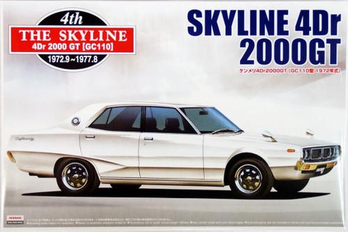 Aoshima 03145 Nissan Skyline 4Dr 2000GT (GC110) 1972 1/24 Scale Kit