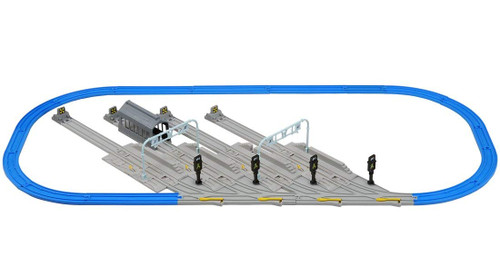 Takara Tomy Pla-Rail Plarail Train Base Track Set (Size 1750x720x115mm)
