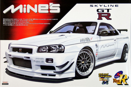 Aoshima 47071 Nissan Skyline GT-R (R34) Mine's 1/24 Scale Kit