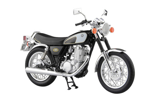 Aoshima Skynet 05856 YAMAHA SR400&500 Glittering Black 1/12 Scale Finished Model