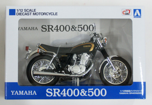 Aoshima Skynet 05863 YAMAHA SR400 Black Gold 1/12 Scale Finished Model
