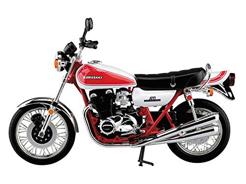 Aoshima Skynet 05955 Kawasaki 750R (Z2) Red & White Color 1/12 Scale Finished Model