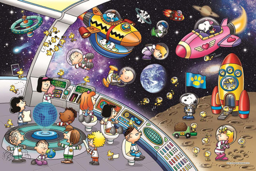 Epoch Jigsaw Puzzle 11-584s Peanuts Snoopy Space Travel (1000 Pieces)