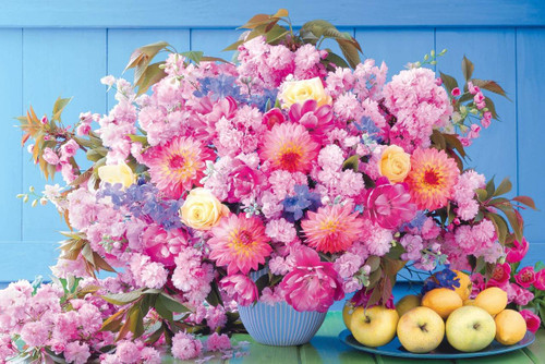 Epoch Jigsaw Puzzle 11-588 Flower Become a Heroine Who is Loved! Romance Pink (1000 Pieces)